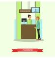 bank teller serving vector image vector image