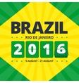 Brazil 2016 poster vector image