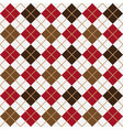 brown and red argyle harlequin seamless pattern vector image vector image