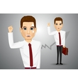 business man with briefcase vector image