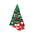 christmas spruce tree with presents vector image