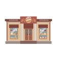 Confectionary Shop Commercial Building Facade vector image