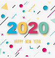 creative design a new year card 2020 vector image vector image