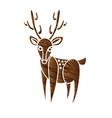 deer cartoon graphic vector image vector image