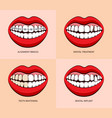 dentist service and teeth treatment vector image vector image
