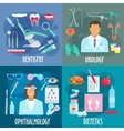 Dentistry urology ophthalmology dietetics icons vector image vector image