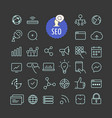 different seo icons collection web and mobile app vector image vector image
