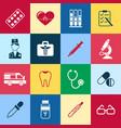 digital blue red green pharmacy vector image