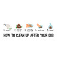 dog poo clean up vector image