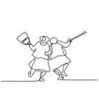 elderly women friends walking vector image