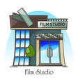 film studio or movie creation company vector image vector image