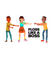 floss like boss web banner template vector image vector image