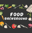 food background with different vegetables vector image vector image
