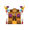 front toy shop or toy store facade balloons vector image