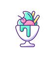 frozen yogurt rgb color icon vector image vector image