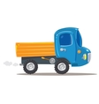 Funny orange with blue truck vector image