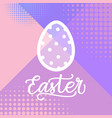 happy easter hand drawing card holiday lettering vector image