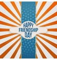 Happy Friendship Day festive Banner with Text vector image vector image