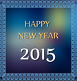 Happy new year 2015 on abstrac color background vector image