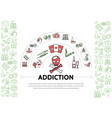 harmful addictions template vector image vector image