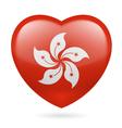 Heart icon of Hong Kong vector image