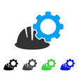 helmet and gear flat icon vector image vector image