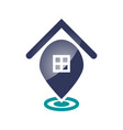 home pin icon vector image vector image