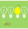 Idea lamp vector image vector image