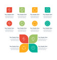 infographic elements features vector image vector image