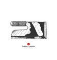 japanese kitchen knife vector image vector image