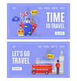 learning english language and travel to england vector image vector image