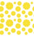 Lemons slices on white seamless pattern vector image vector image