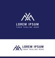 letter xm simple line symbol logo design concept vector image vector image