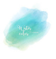light green blue abstract watercolor background vector image vector image