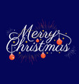 merry christmas with dark background vector image vector image