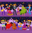 mexican party day dead holiday festival vector image vector image