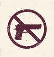 no guns sign with pistol handgun silhouette vector image vector image