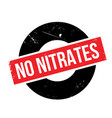 no nitrates rubber stamp vector image vector image