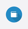 notepad Flat Blue Simple Icon with long shadow vector image