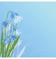 Pastel background with blue snowdrop vector image vector image
