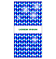 pattern card vector image vector image