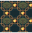 Pattern rope apple vector image