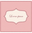 pink zigzag pattern background with banner and vector image vector image