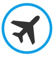 Plane Circled Icon vector image vector image