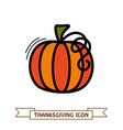 pumpkin icon harvest thanksgiving vector image vector image