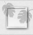 realistic square empty picture frame vector image vector image