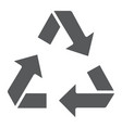 recycle glyph icon ecology and protection vector image