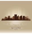 Richmond Virginia skyline city silhouette vector image vector image