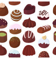 seamless pattern with chocolate candies vector image vector image