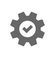 service icon cogwheel with tick sign vector image